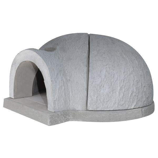 forno a lenha iglu de concreto para pizza 100x60cm fortal