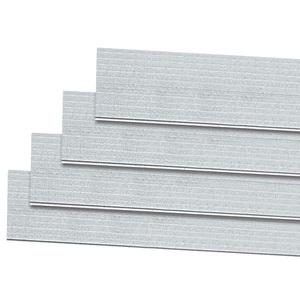Forro PVC Frisado Branco Macho / Fêmea Dualita 0,20x4,00 m² Vipal