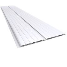 Forro PVC Frisado Branco Macho/Fêmea Modelo Gemini 400x20x0,7 cm Plasbil