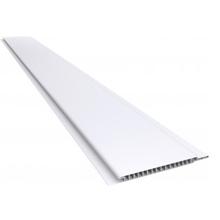 FORRO PVC LISO BRANCO MACHO /FEMEA MODELO MADEIRA 600,00 CM 20,00 CM 0,7 CM PLASBIL