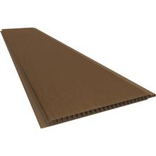 Forro Rígido de PVC Frisado Tabaco 4m Real PVC