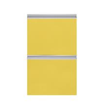 Frente 2 Gavetas Grenoble com Freio Cristallo Amarelo 2D40cm