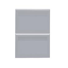 Frente 2 Gavetas Lille Alumínio/Vidro Silver Grey 2T41