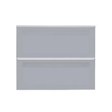 Frente 2 Gavetas Lille Alumínio/Vidro Silver Grey 2T90cm