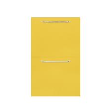 Frente 2 Gavetas Paris com Freio Cristallo Amarelo 2D40cm