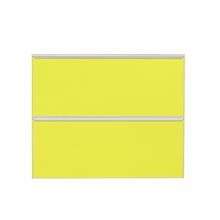 Frente 2 Gavetass Lille Alumínio/Vidro Amarelo