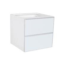 Frente 2 Gavetass Lille Alumínio/Vidro Branco 2T90cm