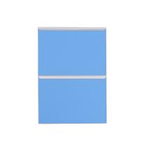 Frente 2 Gavetass Lille Alumínio/Vidro Light Azul 2T40