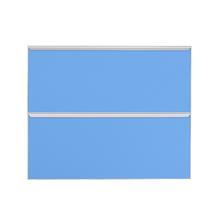 Frente 2 Gavetass Lille Alumínio/Vidro Light Azul 2T90cm