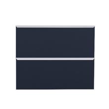 Frente 2 Gavetass Lille Alumínio/Vidro Preto Azul 2T90cm