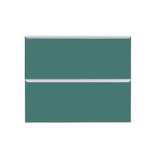 Frente 2 Gavetass Lille Alumínio/Vidro Preto Verde 2T90cm