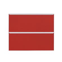Frente 2 Gavetass Lille Alumínio/Vidro Vermelho 2T90cm