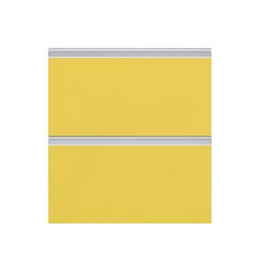 Frente 2 Gaveteiros Cristal Amarelo 70x59,7x50cm Grenoble Delinia