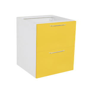 Frente 2 Gaveteiros Cristal Amarelo 70x59,7x50cm Paris Delinia