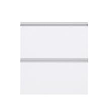 Frente 2 Gaveteiros Cristal Branco 70x59,7x50cm Grenoble Delinia