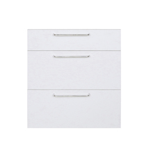Frente 3 Gaveteiros Branco Fosco 70x59,7x50cm Marselha Delinia