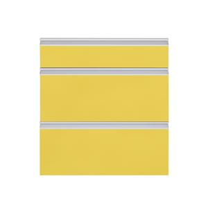 Frente 3 Gaveteiros Cristal Amarelo 70x59,7x50cm Grenoble Delinia