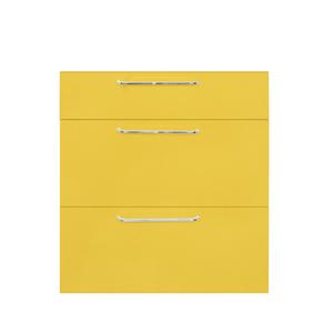 Frente 3 Gaveteiros Cristal Amarelo 70x59,7x50cm Paris Delinia