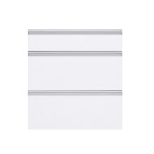 Frente 3 Gaveteiros Cristal Branco 70x59,7x50cm Grenoble Delinia