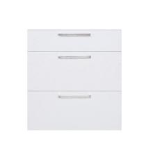 Frente 3 Gaveteiros Cristal Branco 70x59,7x50cm Nice Delinia