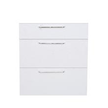 Frente 3 Gaveteiros Cristal Branco 70x59,7x50cm Paris Delinia