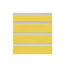 Frente 4 Gavetas Grenoble com Freio Cristallo Amarelo 4D51