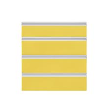 Frente 4 Gaveteiros Cristal Amarelo 70x59,7x50cm Grenoble Delinia