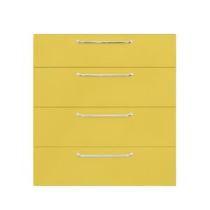 Frente 4 Gaveteiros Cristal Amarelo 70x59,7x50cm Paris Delinia
