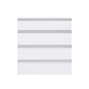 Frente 4 Gaveteiros Cristal Branco 70x59,7x50cm Grenoble Delinia