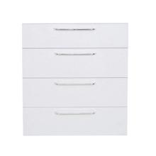 Frente 4 Gaveteiros Cristal Branco 70x59,7x50cm Paris Delinia