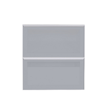 Frente de 2 Gaveteiros Silver Grey 70x59,7x50cm Lille Delinia