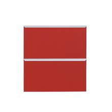 Frente de 2 Gaveteiros Vermelho 70x59,7x50cm Lille Delinia