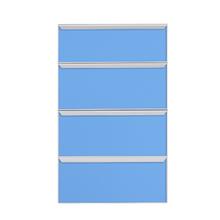 Frente de 4 Gaveteiros Light Blue 70x59,7x50cm Lille Delinia