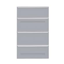 Frente de 4 Gaveteiros Silver Grey 70x59,7x50cm Lille Delinia