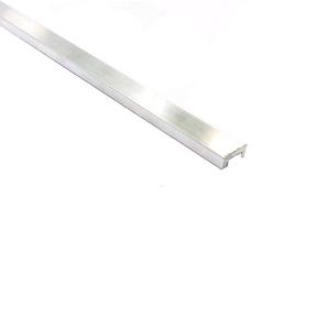 Friso de Acabamento para Parede de Embutir 3M Brilhante 1cm Alumínio