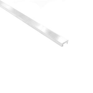 Friso de Acabamento para Parede de Embutir 3M Fosco 1cm Alumínio