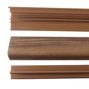 FRONTAL ESCADA PVC NOGUEIRA RUSTICO COMP 210,00 CM LARG 2,20 CM ESPES 4,00 CM TECNO EUCAFLOOR