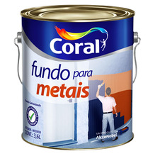 Fundo Para Ferro Coral Laranja Fosco 3,6L