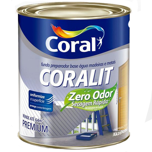 2afcc4c575d Fundo para Madeira Coralit Zero 3,6L Coral | Leroy Merlin