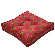 Futon Flores Vermelho 45x45cm