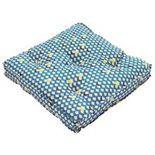 Futon Jardim Tecido Hidrorepelente Geo Collage Azul 50x50cm