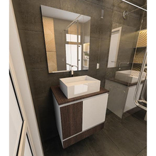 Gabinete de Banheiro 60x60x45cm Barcelona Branco Tx e Tempranillo Venturi