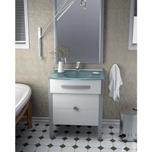 Gabinete de Banheiro Branco 88,5x70,4x46,7cm Wood Up Cris Metal