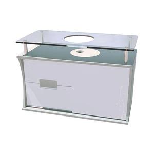 Gabinete de Banheiro  Sem Espelho Brindisi MDF Branco Sem Cuba Titan
