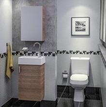 Gabinete de Banheiro  MDF Wengue 1 Porta 69X40X22 Petit Celite