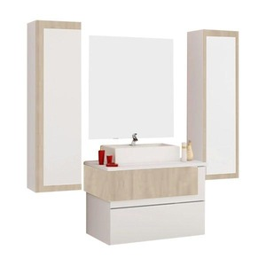 Gabinete de Banheiro Sem Espelho Aludra MDF Berlin Com Cuba Cerocha