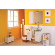 Gabinete de Banheiro Angra Amêndoa 80cm Scalli