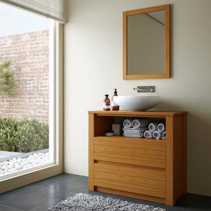 Gabinete de Banheiro Borneo 75x83x39cm Jatobá Mão & Formão