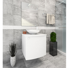 Gabinete de Banheiro Cordova 50x45x45cm Branco Venturi