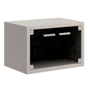 Gabinete de Banheiro Sem Espelho Duna Glass MDF Branco / Vidro Fume Sem Cuba Gaam